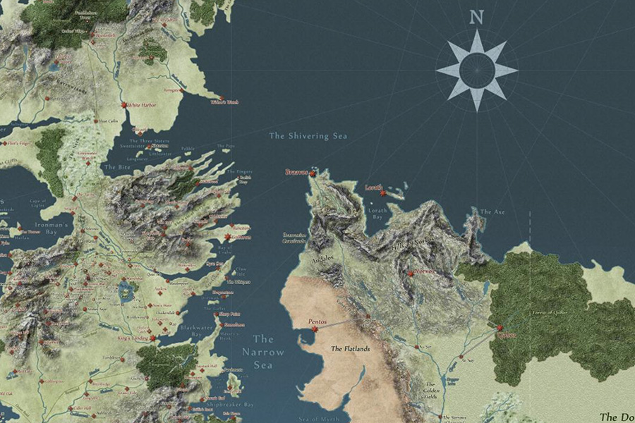Interactive Game of Thrones Map with Spoiler Control Beardsgaard Barbers