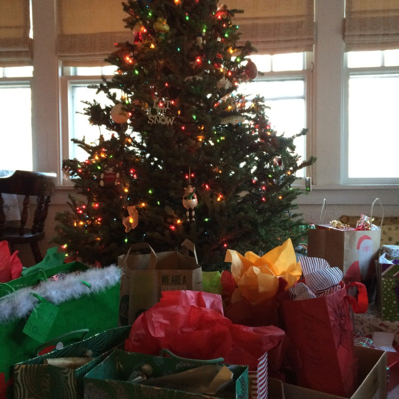 This was not even close to all of the presents present for this big multiple-family celebration