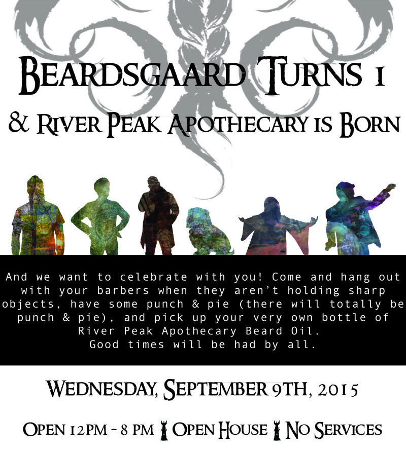 1 Year Party Poster-03 Beardsgaard Barbers
