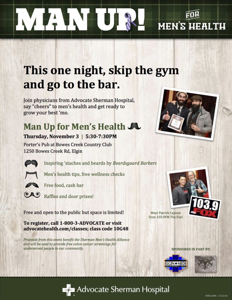Man Up for Men's Health Event Beardsgaard Barbers