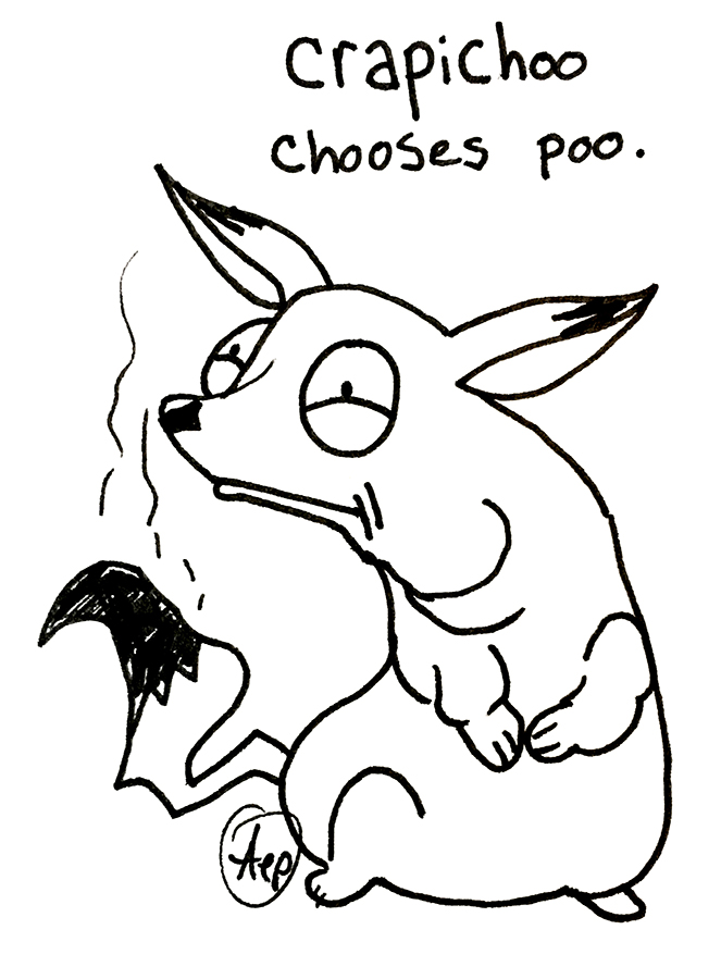 Eagle Drawrings-Crapichu Chooses Poo