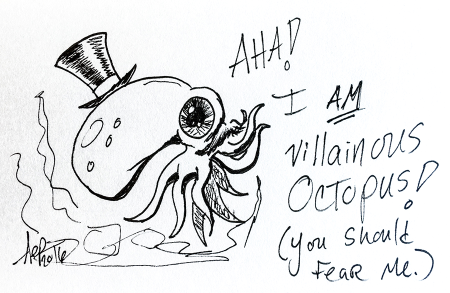 Eagle Drawrings-Fear the villanous octopus