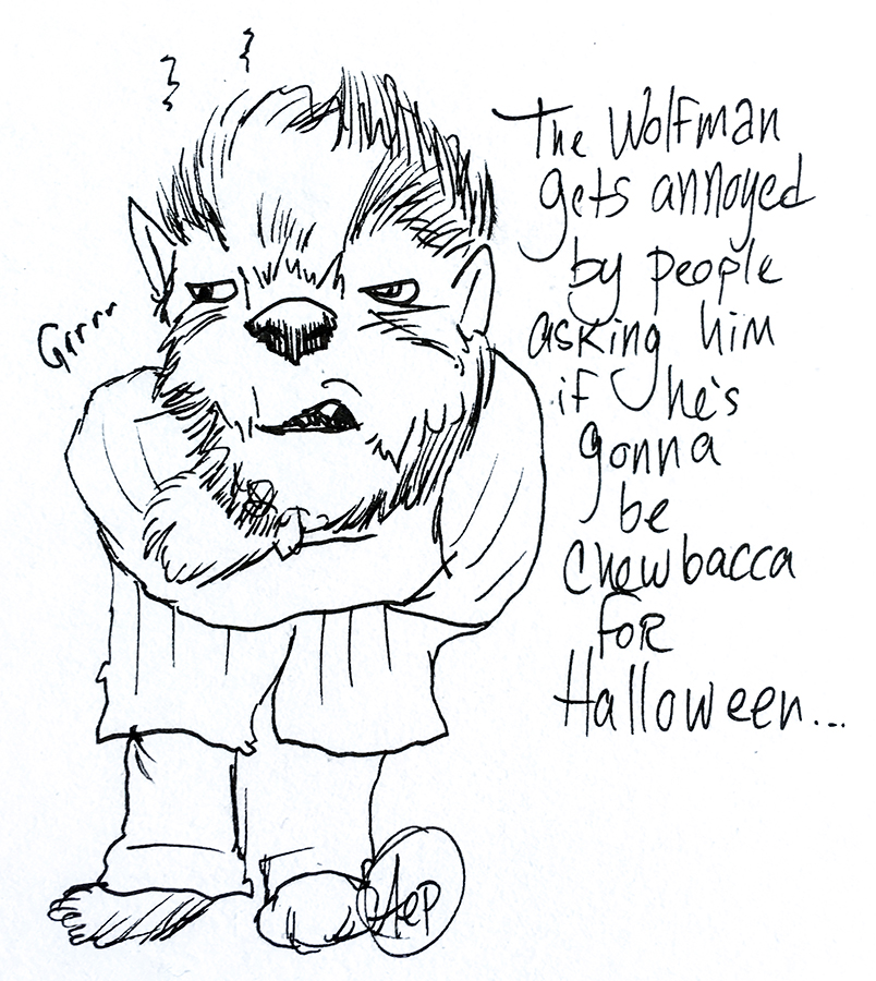 Eagle Drawrings-Halloween Werewolf