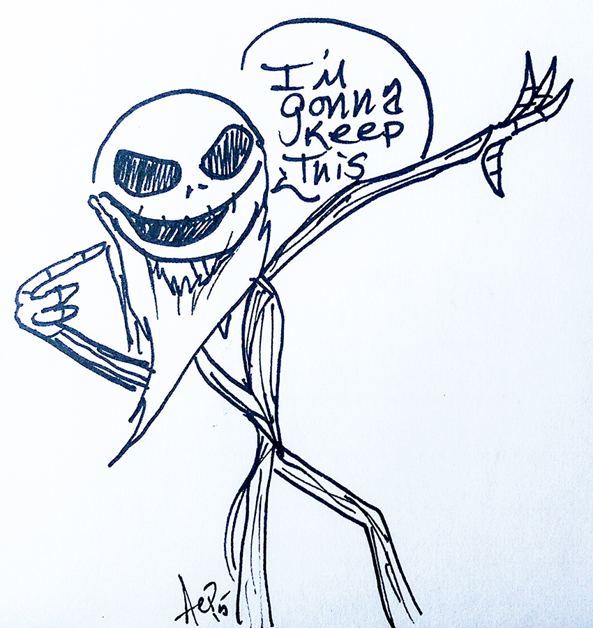 Eagle Drawrings-Jack Skellington I'm Gonna Keep This