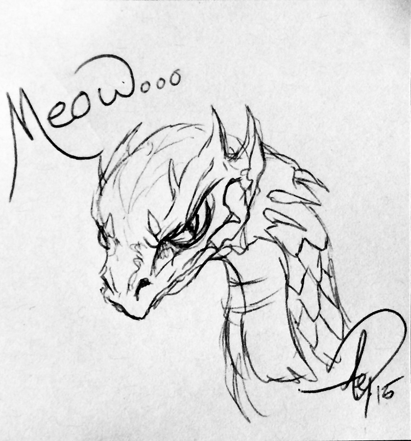 Eagle Drawrings-Meow Dragon
