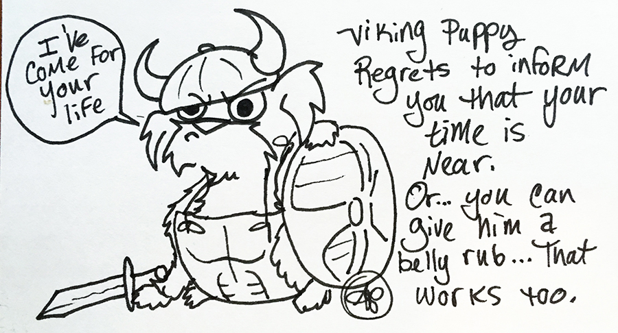 Eagle Drawrings-Viking Puppy