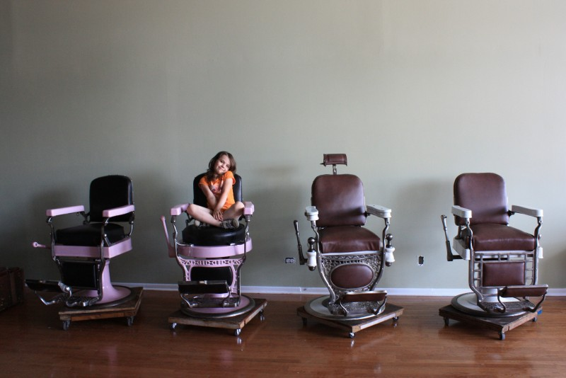 20140630-Beardsgaard Barbers-Buildout-Morgan Anderson on the New Barber Chairs-001