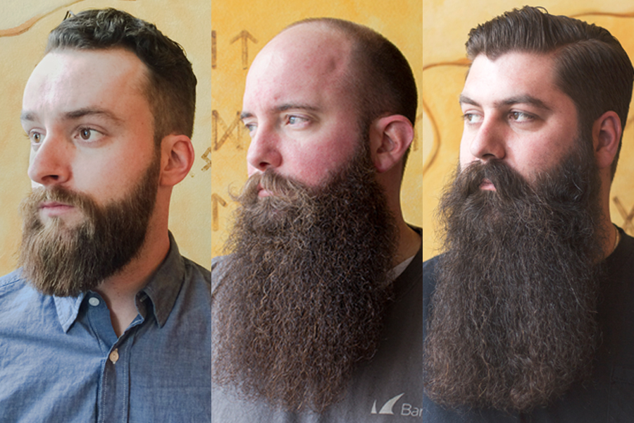 how to keep long beard straight